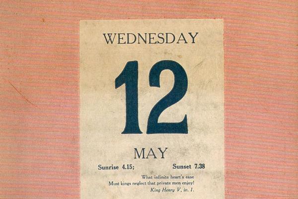 12 May Diary Day