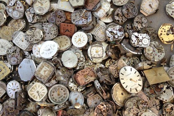 Collection of clock faces