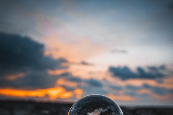 Marble on the seashore